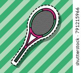 tennis racket element patch... | Shutterstock .eps vector #791215966