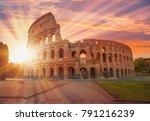 colosseum amphitheater in rome | Shutterstock . vector #791216239