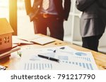 business meeting of real estate ...   Shutterstock . vector #791217790