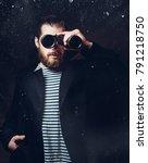 portrait of a male sailor who...   Shutterstock . vector #791218750