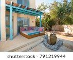 luxury villa show home in...   Shutterstock . vector #791219944