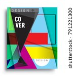 cover design template with...   Shutterstock .eps vector #791221300