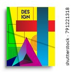 cover design template with...   Shutterstock .eps vector #791221318