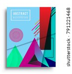 cover design template with...   Shutterstock .eps vector #791221468