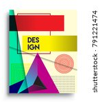 cover design template with...   Shutterstock .eps vector #791221474