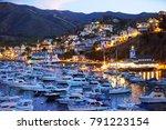 twilight at avalon harbor ... | Shutterstock . vector #791223154