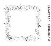 frame of black and white music... | Shutterstock .eps vector #791229964