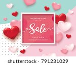 happy valentines day sale... | Shutterstock .eps vector #791231029