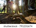 business people crossing... | Shutterstock . vector #791231674