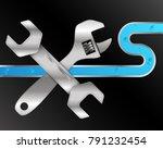 water pipe and plumbing repair... | Shutterstock .eps vector #791232454