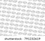 seamless pattern with leaf.... | Shutterstock . vector #791232619