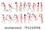 professional tennis player... | Shutterstock .eps vector #791232958
