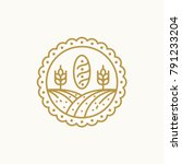 bakery logo template   bakery... | Shutterstock .eps vector #791233204