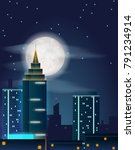 vector poster design with night