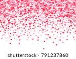vector pink   red valentines... | Shutterstock .eps vector #791237860