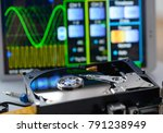 opened hard disk in service... | Shutterstock . vector #791238949