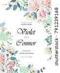 design of wedding invitation | Shutterstock .eps vector #791239168