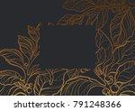 template of realistic garden... | Shutterstock . vector #791248366