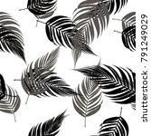 vector palm tree pattern... | Shutterstock .eps vector #791249029