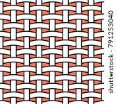 basket weave seamless pattern.... | Shutterstock .eps vector #791253040