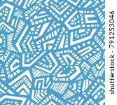 vector seamless pattern.... | Shutterstock .eps vector #791253046