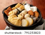 japanese oden. vegetables  fish ...   Shutterstock . vector #791253823