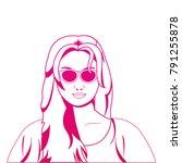 retro woman design | Shutterstock .eps vector #791255878