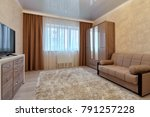 living room with a beautiful... | Shutterstock . vector #791257228