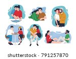 collection of portraits of... | Shutterstock .eps vector #791257870