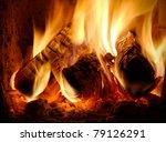 Three Burning Billets In Hot...