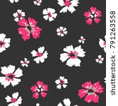 seamless pattern hand drawn... | Shutterstock .eps vector #791263558