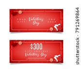festive red gift voucher for... | Shutterstock .eps vector #791269864