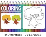 page of coloring book with...   Shutterstock .eps vector #791270083