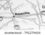 Amarillo. Usa On A Map.