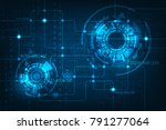 vector technology in electronic ... | Shutterstock .eps vector #791277064