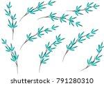 bamboo design vector | Shutterstock .eps vector #791280310