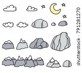 set of vector illustration of... | Shutterstock .eps vector #791281270