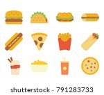 fast food flat icon | Shutterstock .eps vector #791283733