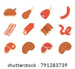 meat flat icon   Shutterstock .eps vector #791283739