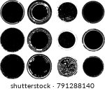 grunge post stamps collection ... | Shutterstock .eps vector #791288140