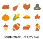thanksgiving day flat icon | Shutterstock .eps vector #791292460