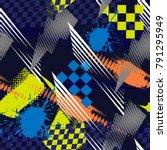 abstract seamless grunge... | Shutterstock .eps vector #791295949