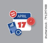 tax day reminder concept  ... | Shutterstock .eps vector #791297488