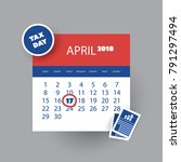 tax day reminder concept  ...   Shutterstock .eps vector #791297494