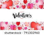 happy valentine's day... | Shutterstock .eps vector #791302960