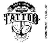 tattoo lettering illustration... | Shutterstock . vector #791303809