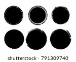 grunge post stamps collection ...   Shutterstock .eps vector #791309740
