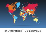 color world map vector | Shutterstock .eps vector #791309878
