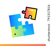 flat solution icon for startup... | Shutterstock .eps vector #791317816