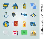 icon set about travel. with... | Shutterstock .eps vector #791321908